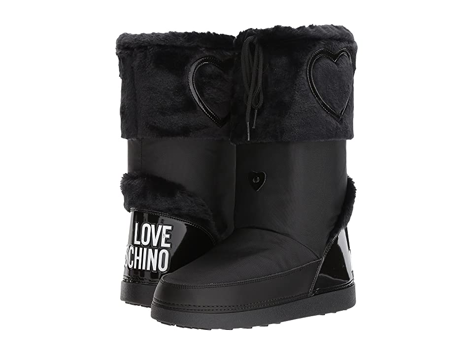 LOVE Moschino Moon Boots (Black) Women