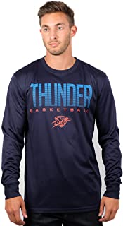 Ultra Game NBA Men's Active Long Sleeve Tee Shirt Large Blue