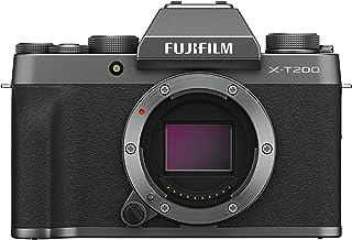 Fujifilm X-T200 Mirrorless Digital Fujifilm X-T200 Mirrorless Digital Camera with 15-45mm Lens, Dark Silver (16645955)