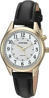 ساعة يد أرمترون النسائية ذات الوظائف الخلفية بحزام جلدي
