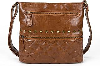 AFKOMST Damen Umhängetasche kleine Handtaschen,Gesteppte Umhängetasche Damen,Vintage Mittelgroß handtasche Lederhandtasche...