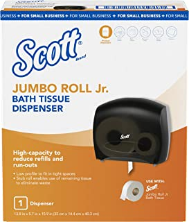 "Scott Jumbo Roll Jr. Bathroom Tissue Dispenser for Small Business (49145), 16"" x 13.88"" x 5.75"", Smoke, 1 per Case"