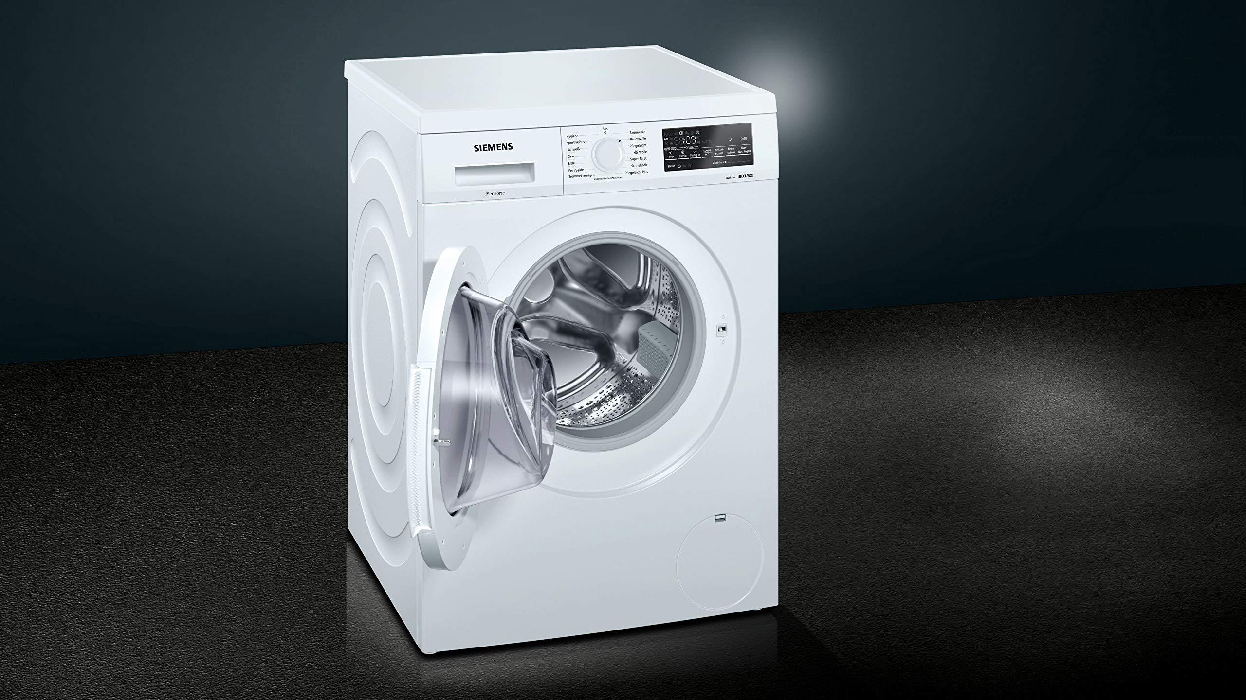 Siemens iQ500 - Lavadora (Independiente, Carga frontal, Blanco ...