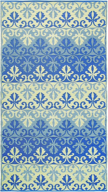 Achla Designs Sari Border Floor Mat, 5 by 9-Inch, Lapis