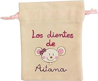 Bolsa ratón Pérez personalizada rosa