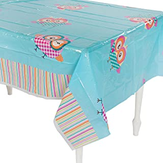 Fun Express - You're A Hoot Tablecover for Birthday - Party Supplies - Table Covers - Print Table Covers - Birthday - 1 Piece