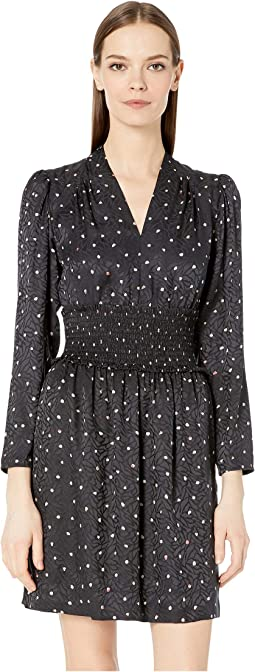 Long Sleeve Painted Dot Dress