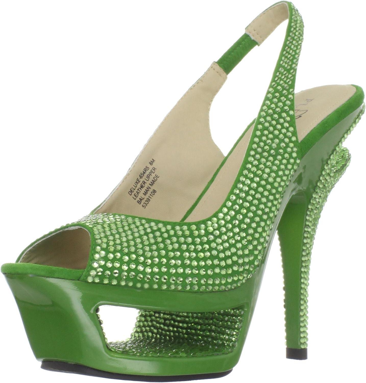 Pleaser Women's Deluxe-654RS GNS Platform Sandal