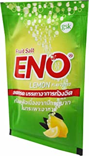 ENO, 30 Packets of ENO Sparkling Antacid Relief (Lemon Flavoured, Fruit Salt) for Indigestion, Flatulence. (4.3 G/Packet).
