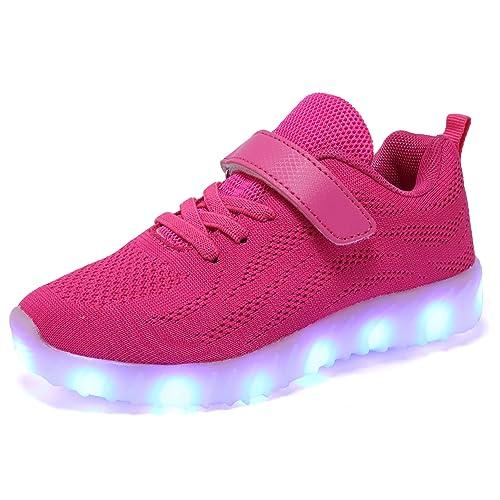 Believed Toddler//Little Kids Led Light Up Shoes Luminous Flashing Sneakers for Boys Girls