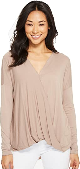 Nora Cross-Front Long Sleeve Top