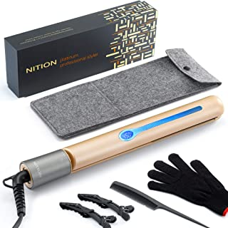 NITION Professional Salon Hair Straightener Argan Oil Tourmaline Ceramic Titanium..