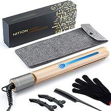 NITION Professional Salon Hair Straightener Argan Oil Tourmaline Ceramic Titanium Straightening Flat Iron for Healthy Styl...