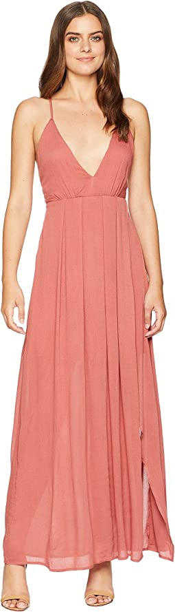 American Rose Jocelynn Maxi Dress with Side Slit