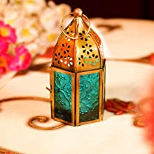 Hashcart Metal Glass Moroccan Style Table Top and Hanging Lantern Tealight Candle Holder.