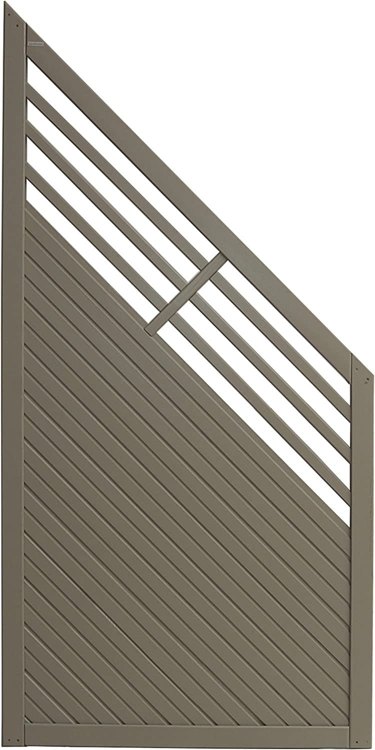 Andrewex wooden fence, fencing panel, garden fence 180 90 x 90, varnished, grey