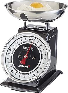 Korona 76150 Retro balance de cuisine TOM | capacité 5 kg, graduation 20 g | plateau de pesée inclus | tare - fonction de ...