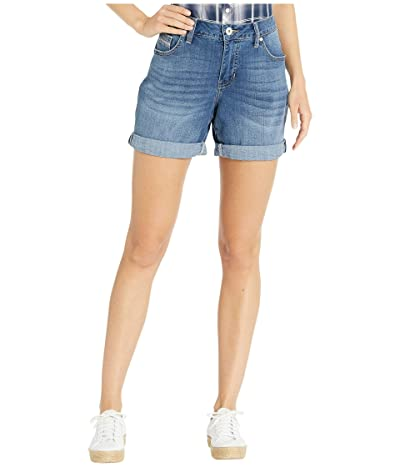 Jag Jeans Petite Alex Boyfriend Shorts (Brilliant Blue) Women