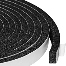Open Cell Self-Adhesive Foam Seal Tape 1/2 X 1/4 Inch, Weather Stripping for Door Insulation, Soundproof, Weatherstrip, 13 Feet Long, 2 Pcs