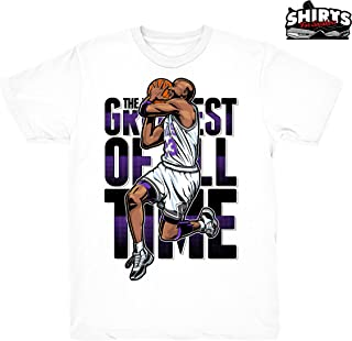 Concord 11 The Goat Shirt to Match Jordan 11 Concord Sneakers White t-Shirts