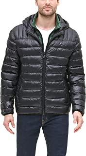 mens Ultra Loft Insulated Packable Jacket With Contrast Bib and Hood