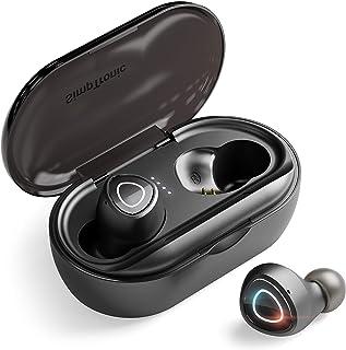 H HILABEE Auriculares Diadema Bluetooth con Sonido Estéreo, nlámbricoa para TV, Cascos Plegable para Skype/PC/Móvil - Rojo...