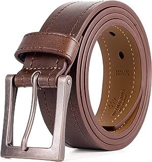 mens leather belt wide