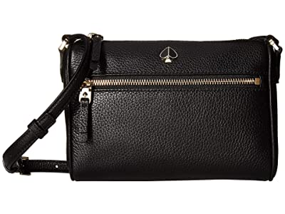 Kate Spade New York Polly Small Crossbody (Black) Cross Body Handbags