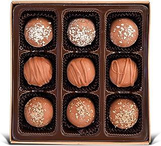 Vegan Chocolate Truffles - Gluten free, Organic Ingredients, Best Vegan Gift, Fair trade, Kosher, Gourmet Assortment 9pc Box