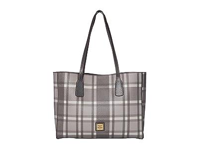 Dooney & Bourke Graham Plaid Ashton Tote (Grey/Dark Grey Trim) Handbags