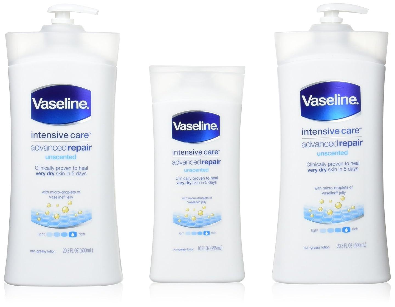 親指外出植木Vaseline [repairing moisuture]リペアリング モイスチャー ローション 3本セット 642498