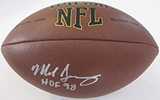 Mike Singletary, Chicago Bears, Hall of Fame, Signed, Autographed, NFL Football, COA with the Proof Photo will be included