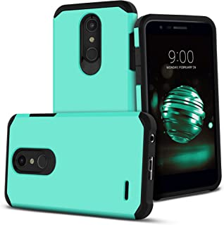 Celljoy Case compatible with LG K30, LG K10 2018, LG Premier Pro LTE, LG X410 [Liquid Armor] ((Shock Proof)) Slim Impact Protection [Hybrid TPU/Hard Shell] (Matte Metallic Teal Blue)