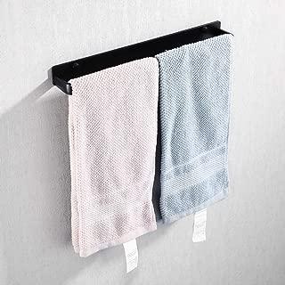 KES Towel Rack Kitchen Towel Bar 14.5 Inch Bathroom Hand Towel Holder Drill-free/Wall Mount Rustproof Aluminum Modern Matte Black Finish, KTH400S36-BK