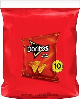Doritos Tortilla Chips, Nacho Cheese, 1oz Bags, 10 count