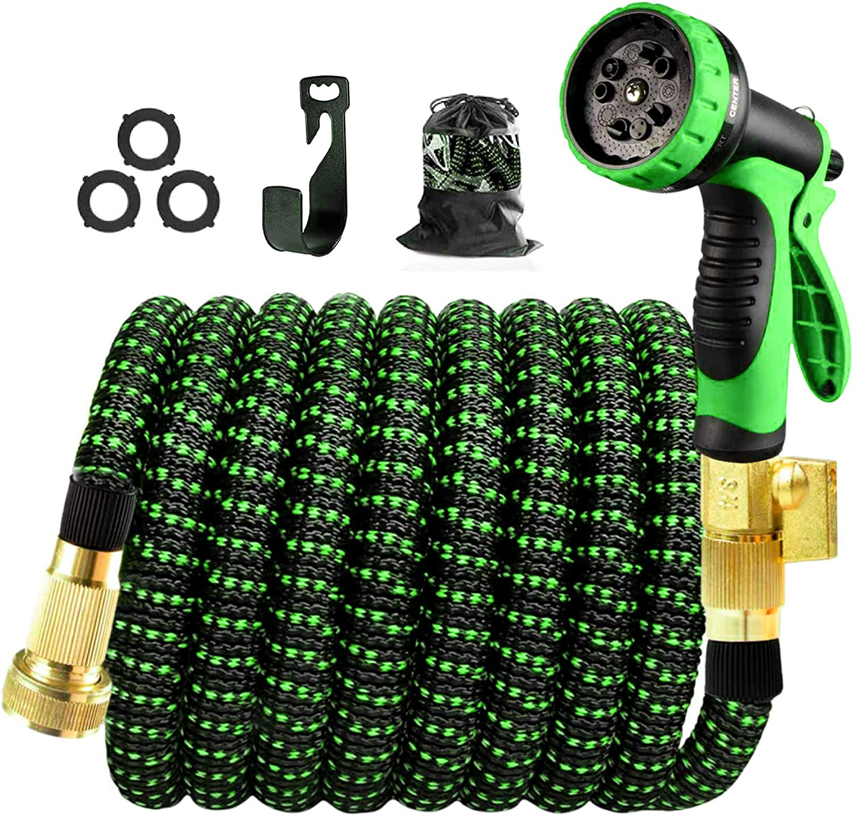 150Ft Expandable Water Hose Garden Hose Nozzle Flexible Hose with Triple Layer Latex Core 3/4