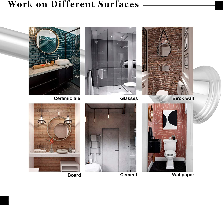 tringle de rideau de douche t/élescopique r/églable sans per/çage pour armoire Tringle de rideau de douche extensible en acier inoxydable 83-150 cm Chrome fen/être cuisine salle de bain