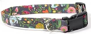 Ruff Roxy Rosey Posey, Designer Cotton Dog Collar, Adjustable Handmade Fabric Collars