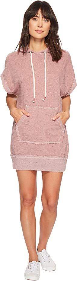 Sleeveless Sweatshirt Hoodie Dress