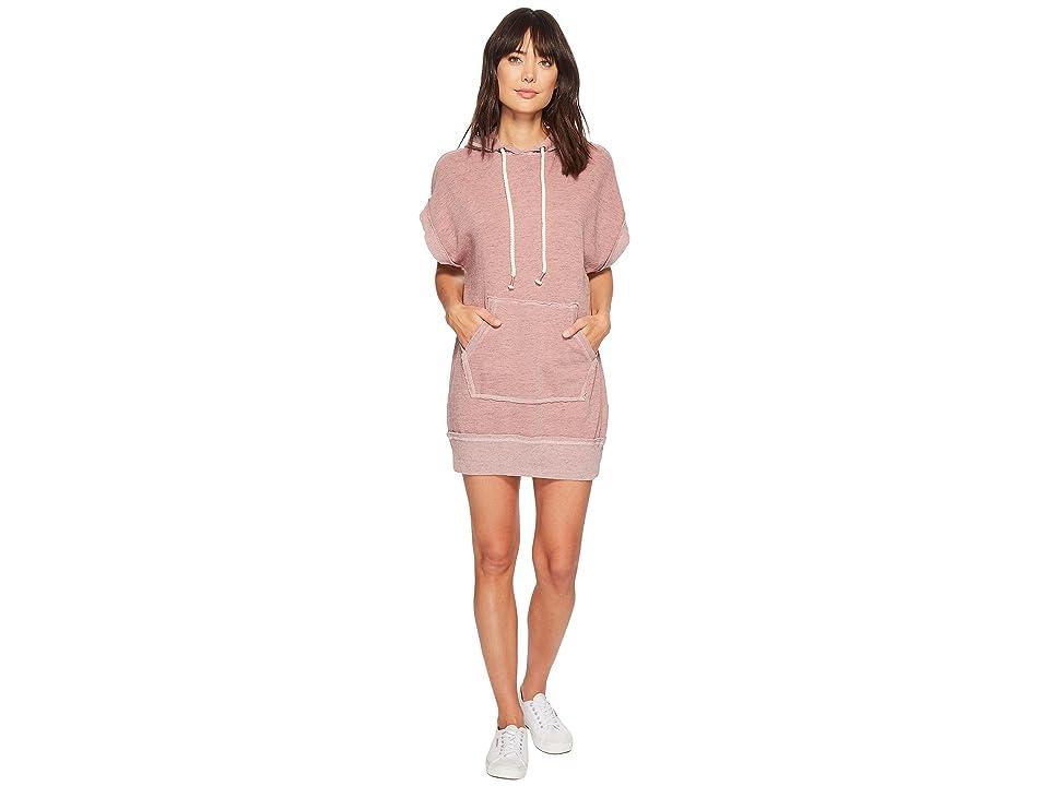 Splendid Sleeveless Sweatshirt Hoodie Dress (Rose Dust) Women