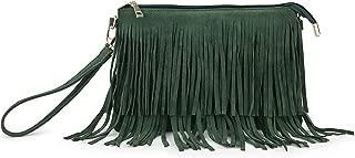Hoxis Fringe Cross Body Bag Wristlet Womens Small Shoulder Bag