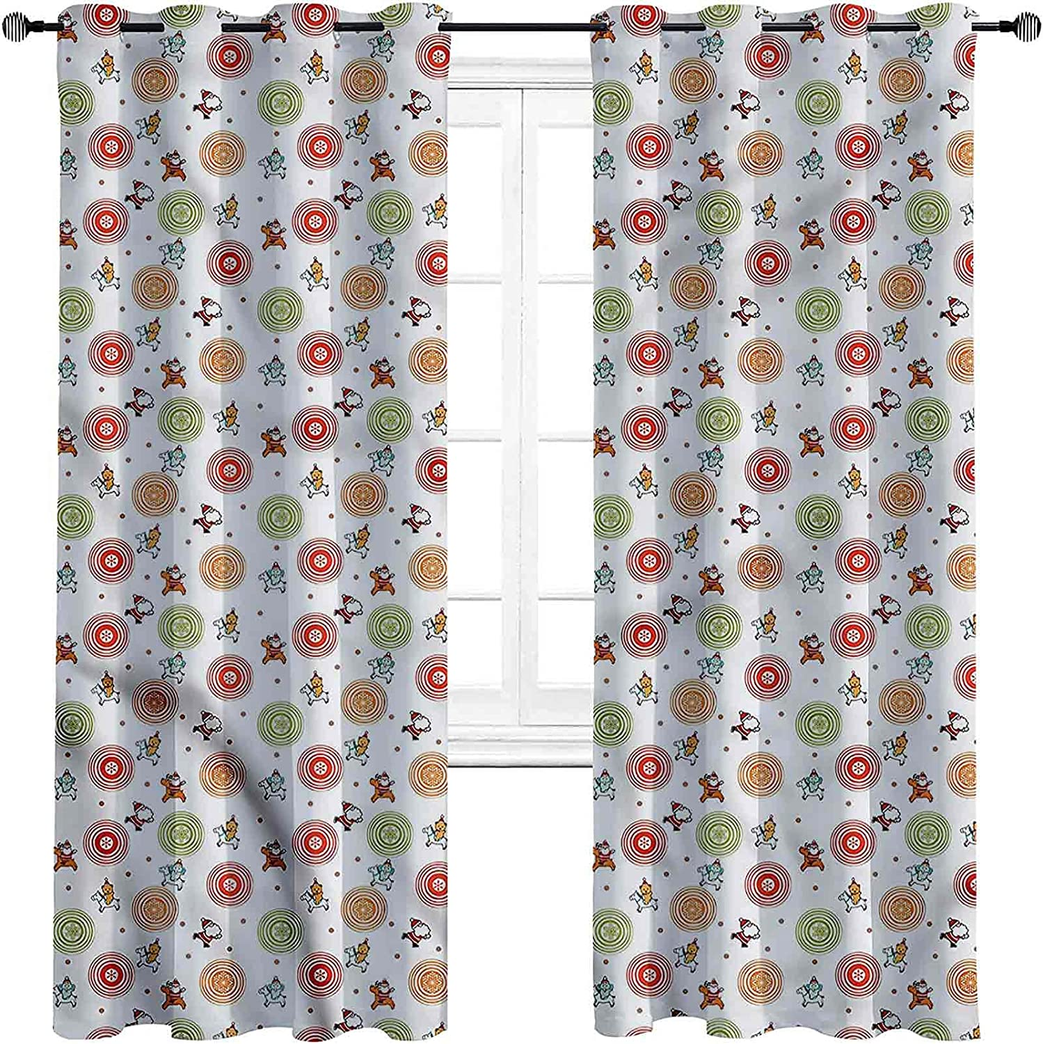 Christmas Blackout Curtains with Reindeer Sales for sale Ridin darken Grommets Beauty products