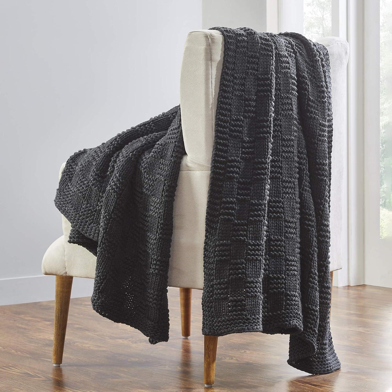 Modern Threads Luxury Phelon Acrylic Charcoa Sofa Throw Nashville-Davidson Mall Sale item Fur Bed