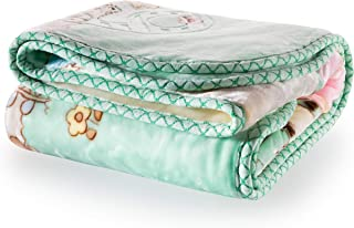 Extremely Soft Plush Mink BabyToddler Blanket – Versatile Crib and Stroller Cover for Newborn Infants, Toddlers and Kids - Warm Fluffy and Breathable Nursery Cover - 41 x 53 (Green)