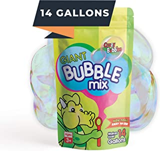 CrazyBubbles Giant Bubbles Mix - Makes 14 Gallons of Bubbles for Kids - All Natural Vegan Ingredients are Non-Toxic and Ea...