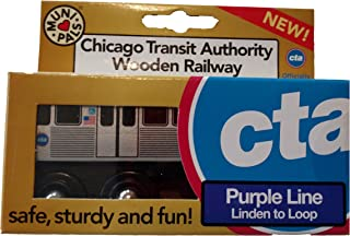 Munipals Wooden Subway L Train Chicago CTA Purple Line