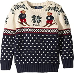 Ski Bear Cotton-Merino Sweater (Little Kids/Big Kids)