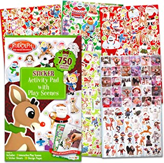 Rudolph the Red-Nosed Reindeer Stickers Set ~ Over 750 Rudolph the Red Nose Reindeer Stickers, Design Pages, Play Scenes