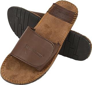 DRUNKEN Men's Casual Velcro Tan Slide Sandal
