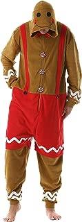 Men's Adult Onesie Holiday Microfleece Jumpsuit One-Piece Pajamas